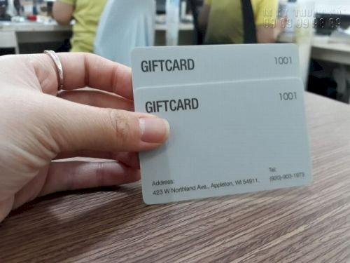 In thẻ nhựa quà tặng - Gift Card - thẻ ưu đãi - thẻ giảm giá