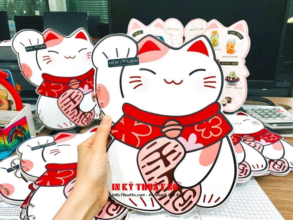 In menu hình mèo Maneki Neko cho quán mua may bán đắt, hút tiền tài lẫn thực khách - Ảnh: 1