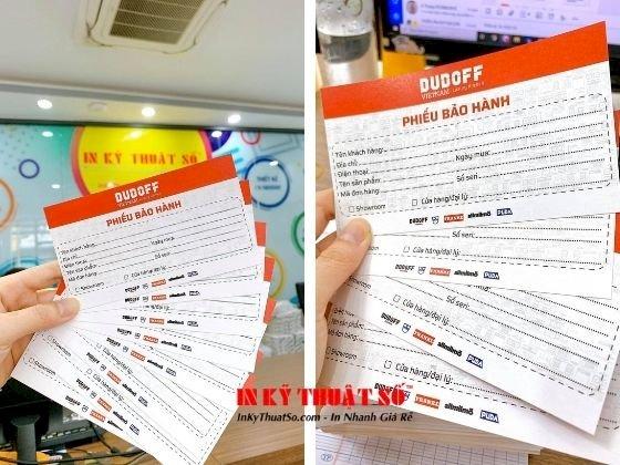 Báo giá in phiếu bảo hành sản phẩm - Xưởng in phiếu bảo hành TP HCM - Ảnh: 1