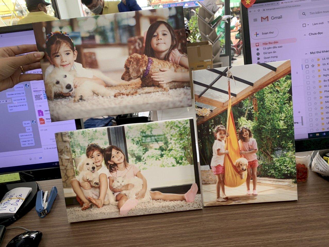 In tranh chân dung trên chất liệu Canvas treo tường, để bàn & lên khung theo yêu cầu - Ảnh: 3