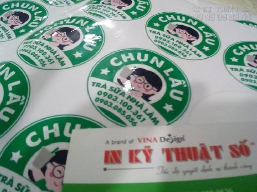 In tem nhãn dán bao bì giá rẻ tại Bình Thạnh, TPHCM
