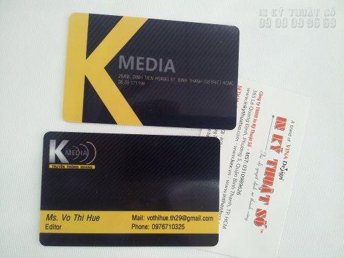 In thẻ nhựa cao cấp, thẻ VIP chất lượng cao tại TPHCM