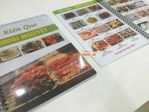 In ấn menu tại Cty TNHH In Kỹ Thuật Số