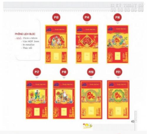 Lịch bloc tết 2017 với nhiều kích thước và chủ đề in lịch, được thiết kế ấn tượng và độc đáo bởi InKyThuatSo