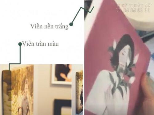 Viền của in tranh canvas làm tranh treo tường