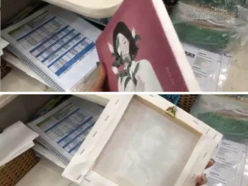 Đóng khung sexy cho in tranh canvas HCM tại In Kỹ Thuật Số
