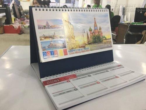 Đặt in lịch để bàn số lượng ít - in lịch để bàn chữ M