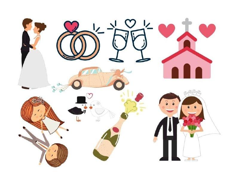 Hashtag cầm tay đám cưới vector