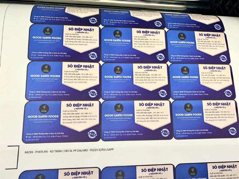Xưởng in tem giấy Bình Thạnh - In tem giấy decal TPHCM - có thiết kế, in lẻ, in số lượng lớn - Ảnh: 1