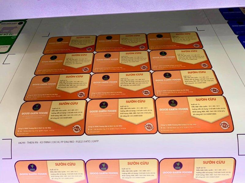 Xưởng in tem giấy Bình Thạnh - In tem giấy decal TPHCM - có thiết kế, in lẻ, in số lượng lớn  - Ảnh: 2