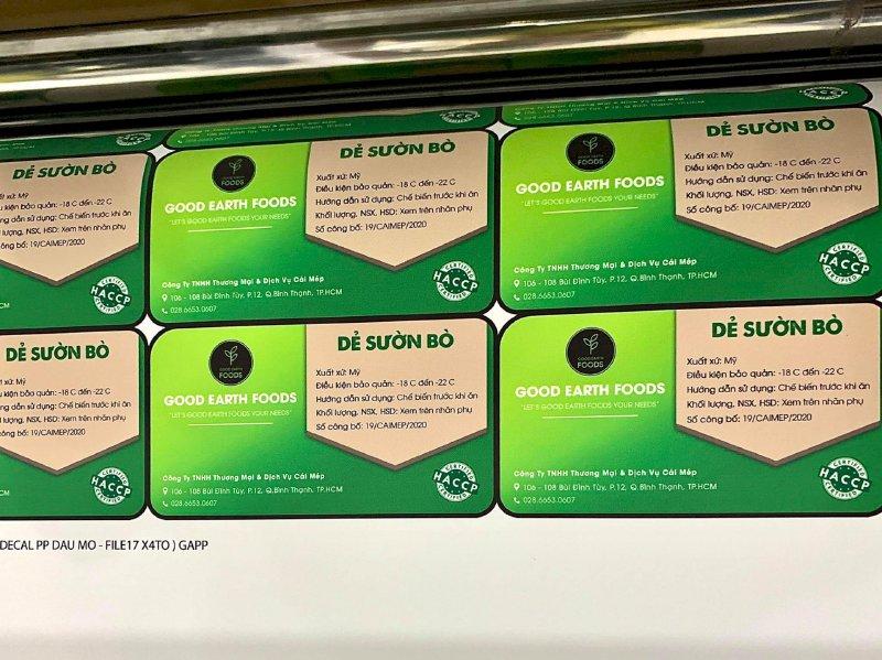 Xưởng in tem giấy Bình Thạnh - In tem giấy decal TPHCM - có thiết kế, in lẻ, in số lượng lớn - Ảnh: 4