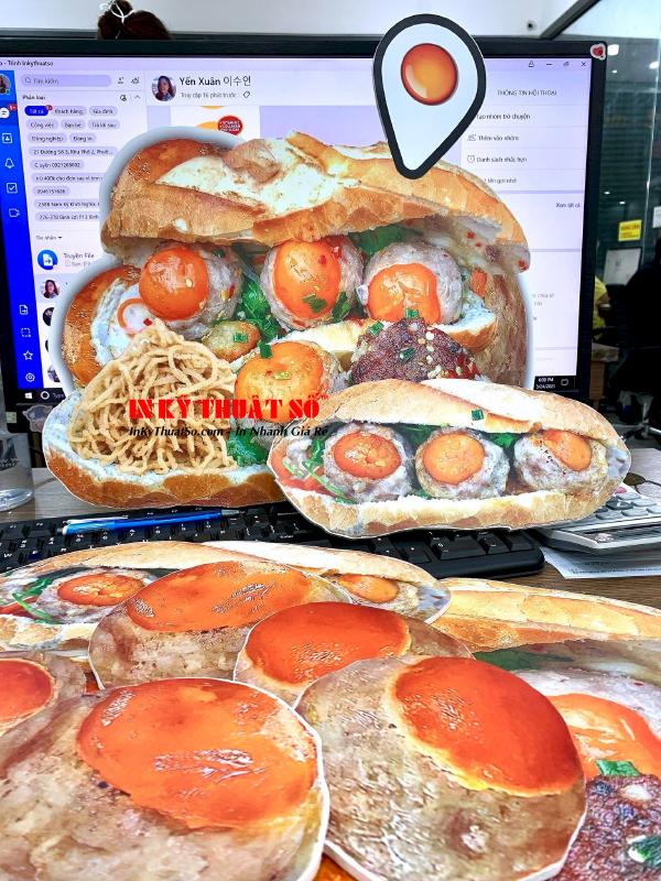 In hashtag cầm tay chụp ảnh cho quán - mô hình bánh mì 3D formex cắt CNC sắc nét - Ảnh: 4