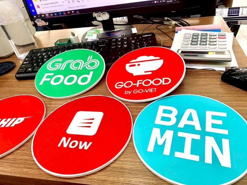 In sticker size lớn ứng dụng đặt và giao đồ ăn online Grab Food - Go-Food - Loship - Now - Baemin - Ảnh: 3