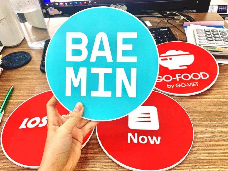 In sticker size lớn ứng dụng đặt và giao đồ ăn online Grab Food - Go-Food - Loship - Now - Baemin - Ảnh: 4