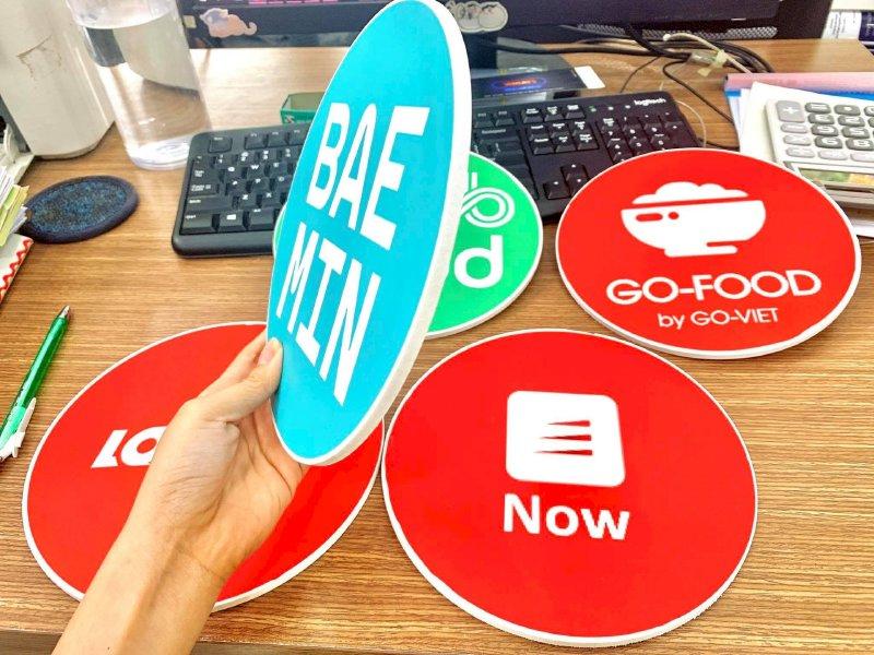 In sticker size lớn ứng dụng đặt và giao đồ ăn online Grab Food - Go-Food - Loship - Now - Baemin - Ảnh: 2