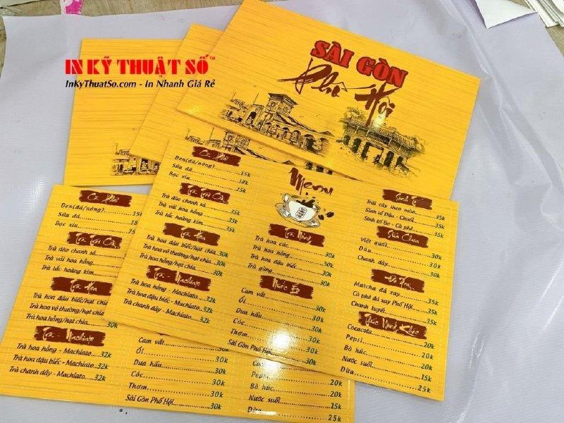 Làm menu quán cà phê đơn giản - Thiết kế menu cà phê đẹp giá rẻ tại TPHCM - Ảnh: 3