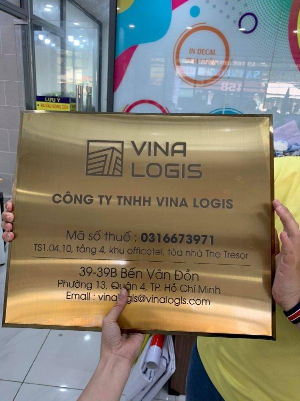 In UV trên inox làm bảng tên công ty Bình Thạnh, TPHCM - Thiết kế bảng hiệu công ty đẹp, in lấy ngay - Ảnh: 1