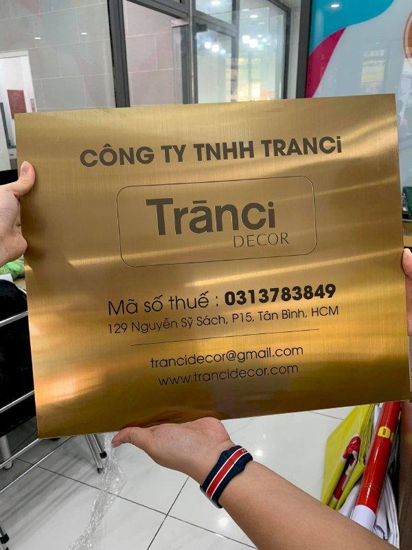 In UV trên inox làm bảng tên công ty Bình Thạnh, TPHCM - Thiết kế bảng hiệu công ty đẹp, in lấy ngay - Ảnh: 3