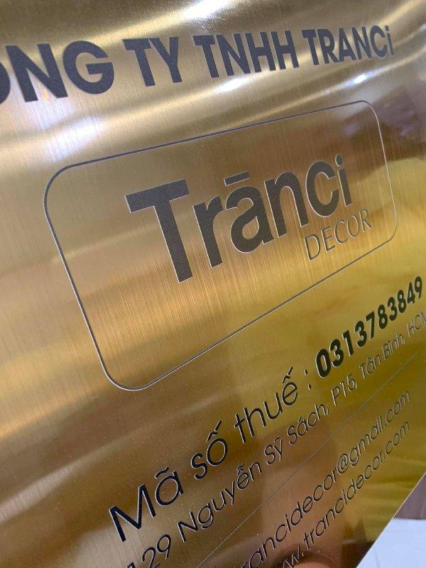 In UV trên inox làm bảng tên công ty Bình Thạnh, TPHCM - Thiết kế bảng hiệu công ty đẹp, in lấy ngay - Ảnh: 4
