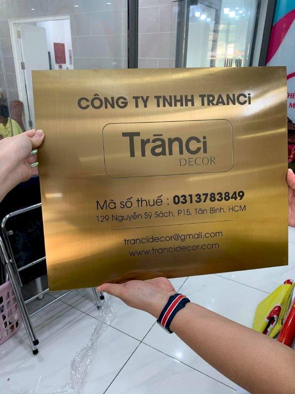 In UV trên inox làm bảng tên công ty Bình Thạnh, TPHCM - Thiết kế bảng hiệu công ty đẹp, in lấy ngay - Ảnh: 5