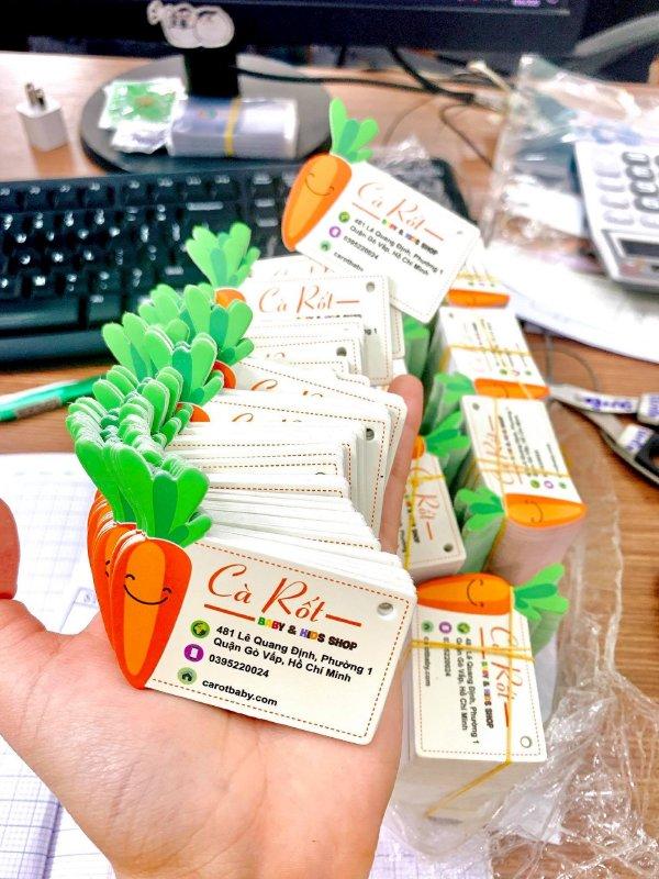 In name card - danh thiếp - card visit kết hợp tag treo, thẻ treo, mác quần áo giá rẻ TPHCM - Ảnh: 2