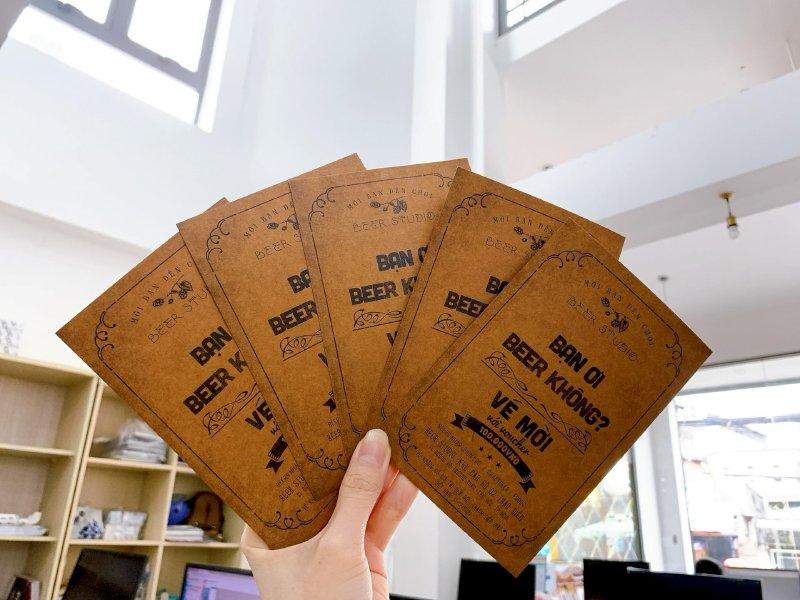 Đặt in thẻ mời giấy Kraft tại TPHCM cùng In Kỹ Thuật Số