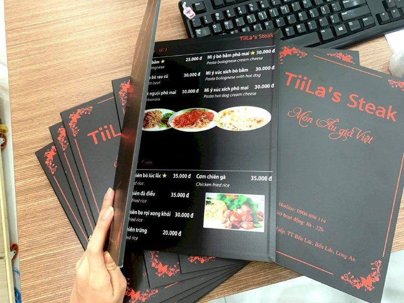 In menu đẹp - Đặt làm menu thực đơn đẹp - Ảnh: 1