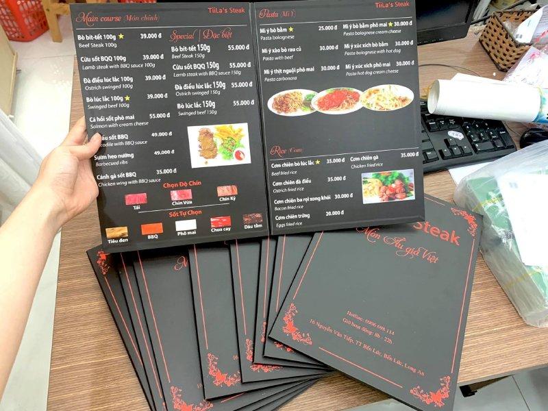 In menu đẹp - Đặt làm menu thực đơn đẹp - Ảnh: 3
