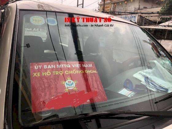 In phù hiệu xe hỗ trợ chống dịch, tin decal tem nhãn dán xe ô tô - TPHCM - hàng in lấy trong ngày - Ảnh: 4