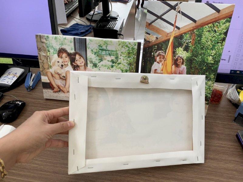 In tranh gia đình canvas