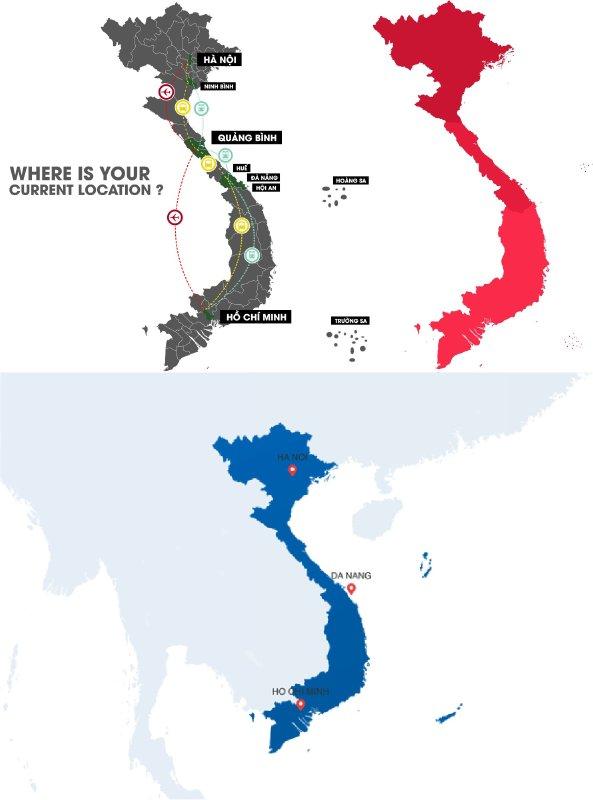 hình ảnh bản đồ Việt Nam - Inkythuatso
