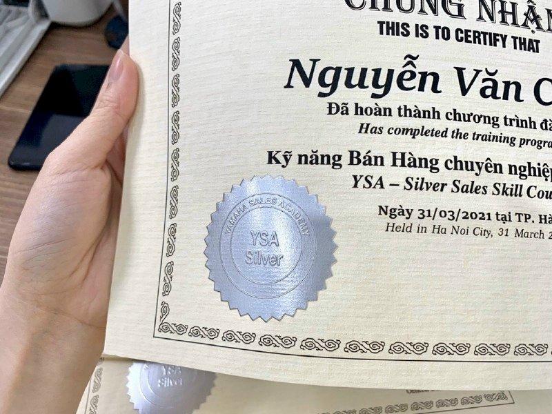 In ấn nhanh giấy chứng nhận In Kỹ Thuật Số Since 2006 - Ảnh: 4