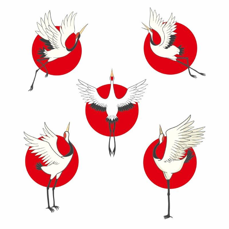 hình ảnh chim hạc vector - Inkythuatso