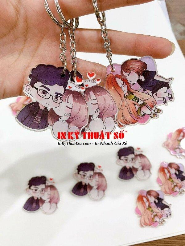 Đặt làm móc khóa mica theo yêu cầu TPHCM - móc khoá mica đẹp chibi couple, thế giới manga anime - Ảnh: 1